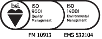 BS EN ISO 9001:2015/14001:2015 Icon